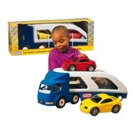 Nákladné auto s dvomi autami
