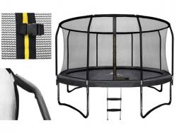Kvalitná trampolína 366 cm + vnútorná ochranná sieť + rebrík