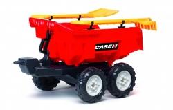 Vlek za detský traktor 4 kolesový s náradím Case