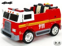 Dvojmiestny USA hasičský bus 4x4 s 2,4G diaľkovým ovládačom