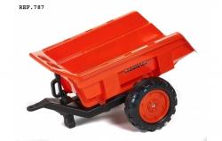 Vlek za detský traktor 2-kolesový výklopný