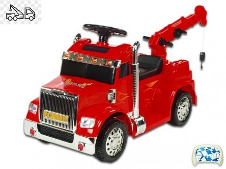 Elektrické autíčko nákladiak s funkčným žeriavom