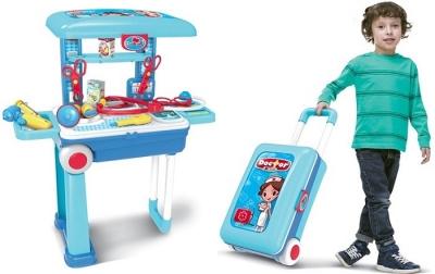 Kufrík na kolieskach pre malého lekára alebo salón krásy