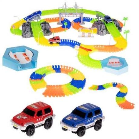 Svietiaca auto dráha 500 prvkov + 2 autá