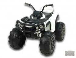 Elektrická štvorkolka Predator s diaľkovým ovládaním čierno-biela