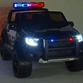 Elektrické autíčko Ford Raptor polícia USA, dvojmiestny