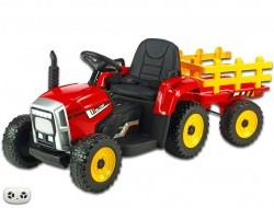 Detský elektrický rozkošný traktor s vlekom