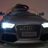 Audi RS5 s 2,4G DO, SD kartou, zvuk a LED efekty, voltmetrom, čalúneným sedadlom,