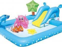 Detský bazén so šmyklavkou a doplnkami