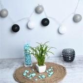 Svietiaca dekorácia 10 bavlnených gulí