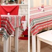 Vianočná dekorácia na stoličku