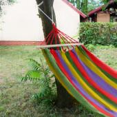 Záhradná závesná sieť  s konštrukciou