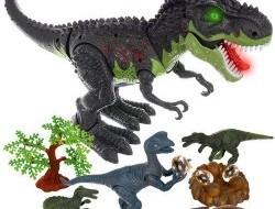 Interaktívny dinosaurus T-Rex + figúrky