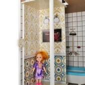 Drevený 3 poschodový domček pre bábiky s terasu