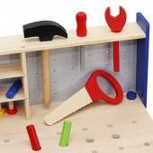 Detský ponk s náradím drevený - 30 dielov