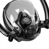 Dvojitá celotvárová maska na šnorchlovanie