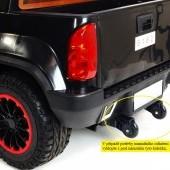 Džíp Chevy s 2.4G DO, 6 rýchlostí, EVA kolesami, otváracími dverami, FM, USB, SD, rádiom, čalúnenú sedačkou, lakovaný