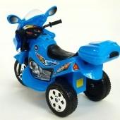 Cestná motorka Connect s kufríkom, LED a zvukovými efektmi, 6V, pre najmenších, modrá