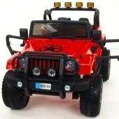 Džíp wrangler 4x4, náhon všetkých 4 Eva kolies, batérie 2x 12V / 10Ah, 2,4G DO, USB, SD, Mp3, otváracie dvere, čalúnená sedačka, pruženia,