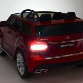 Dvojmiestny Mercedes GLS63 4x4 s náhonoch všetkých EVA kolies, 2,4G DO, LED osvetlenie, pruženia, voltmeter, FM, USB, TF, čalúnené sedačky