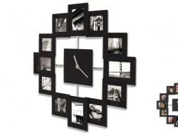 Moderné hodiny s 12 fotorámčekmi