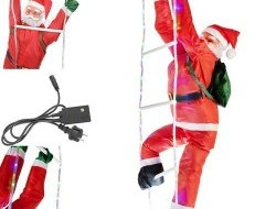 Ježiško na LED rebríku - viacfarebný - 120 cm