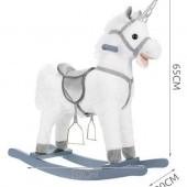 Hojdací koník - jednorožec so zvukmi - 65 cm Kruzzel