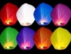 Lietajúce lampióny (balóny šťastia) až 10 kusov v balení