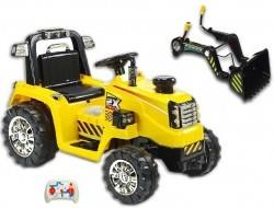 Elektrický traktor s diaľkovým ovládáním a ovládateľnou lyžicou