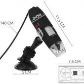 USB digitálny mikroskop k PC zväčšenie až 1600x