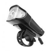 LED svetlo na bicykel USB, vodeodolné, tachometer, el.zvonček