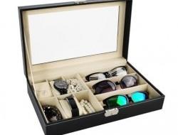 Organizér na okuliare a hodinky box na 9 ks