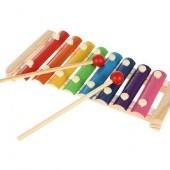 Sada drevených hudobných nástrojov pre deti 24 ks
