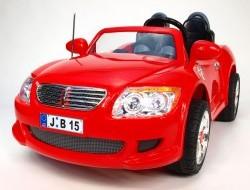Elektrické auto veľký dvojmiestny športiak Bavor červený