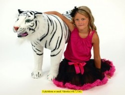 Tiger stojaci biely 178 cm