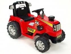 Elektrický traktor s mohutnými kolesami a konštrukciou