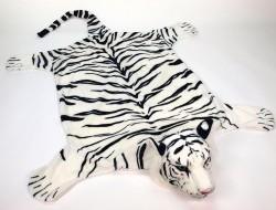 Tiger biely 204cm x 117cm predložka