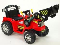 Elektrický traktor s ovládateľnou lyžicou