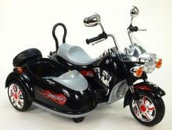 Detská elektrická motorka so sajdkárou