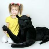 Veľký plyšový čierny panter dĺžky 170cm