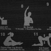 Fitness podložka na jogu s cvičebným plánom