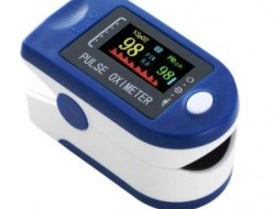 Prstový pulzný oxymeter LCD