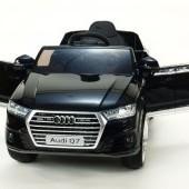 Audi Q7 NEW s 2,4G DO, otváracími dverami, FM, USB, čalúnením, pružením, EVA kolesami, LED osvietením, metalíza, dĺžka 118cm, 12V