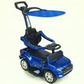 Ford Ranger pre najmenších, 6V elektrické autíčko s vodiacou tyčou, strieškou, madlami, 2 opierky, Mp3, TF card, lakované