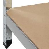 Kovový bezskrutkový regál 220x100x45cm