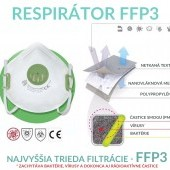 Respirátor FFP3, ochrana proti koronavírusu