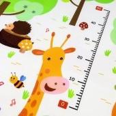 Detská veľká hracia podložka žirafa 180x180x1cm