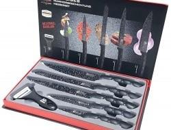 Sada ostrých nožov s keramickým povlakom + škrabkou