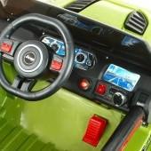 Džíp Samuraj s 2.4G DO, EVA kolesami, USB digi player, LED efekty, vypínateľnou kývajúcou zadnou nápravou, 12V,