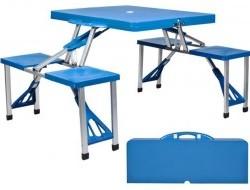 Skladací turistický piknikový stôl so 4 stoličkami